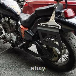 2×Retro Motorcycle Saddle Support Guards Side Bag Bracket Mounts Holder Rack Kit