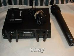 Audio-Technica ATW-t312 /10 PRO Rack-Mount Digital UniPak/ Handheld Combo System