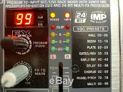 Behringer Eurorack Pro RX1202FX Rackmount Mixer with Effects Works Great! +Box