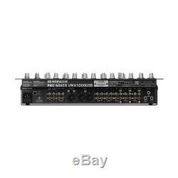 Behringer Pro Mixer VMX1000USB Professional 7-Channel Rack-Mount DJ Mixer