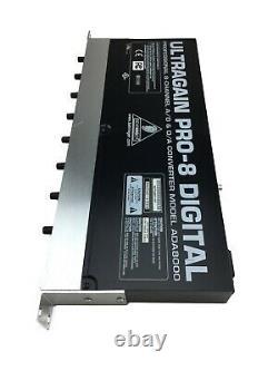 Behringer UltraGain PRO-8 Digital ADA8000 8 Channel Interface Used