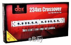 DBX 234XS Rack Mount Stereo 2/3/4-Way Crossover Pro Audio Sound Processor/XLR