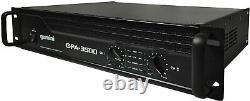 Gemini Pro GPA-3500 3000W 2 Channel Power DJ Amplifier 2U Rack Mount Stereo -UC