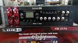 Line 6 Pod X3 PRO rack mount guitar, bass & vocal processor, original owner