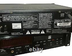 Lot (2) Denon DN-C550R Professional Rack-Mount Dual Drawer CD-R/CD-RW Recorder