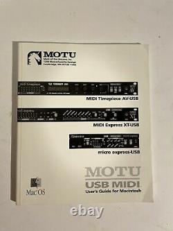 MOTU Express XT Professional USB MIDI Interface with User Guide READ DESCRIPTION