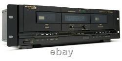 Marantz PMD-300CP Professional Rack-mount Dual Deck Cassette USB Recorder/Player