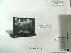 Marshall V-RD151P 15 LCD Pro Video Monitor Rack Mount Panel, Free Ship