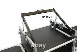 OSP 16 Space Mixer Amp DJ Rack Case & Top 10 Space Mixer Mount with 2 Lid Tables