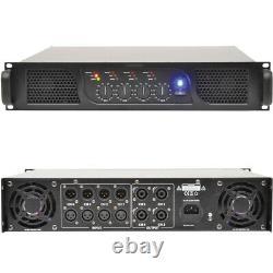 POWERFUL 1600W 4 Channel/Zone Quad Power Amplifier 2 Ohm Studio Speaker System