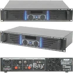 PRO 240W Stereo Power Amplifier -8 Ohm Studio Amp for Large Loud Speaker Systems