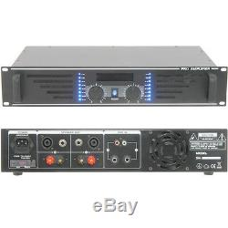 PRO 600W Stereo Power Amplifier -8 Ohm Studio Amp for Large Loud Speaker Systems