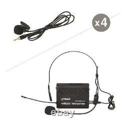 PYLE Pdwm4400 Rack Mount 4 Mic Vhf Rack Mount Wireless Lavalie/ Headset