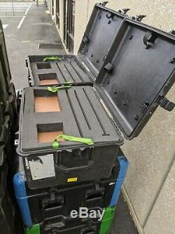 Pallet Lot of 9 Pelican Hardigg Cases Shipping Transport Pro Audio Rack Mount