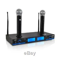 Pyle PDWM2560 16 Channel Wireless Microphone System Rack Mount with 2 Mics