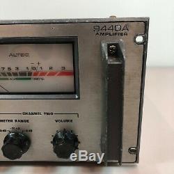 RARE Altec Lansing 9440A Pro Power Amplifier Rack Mount For Restoration Stereo