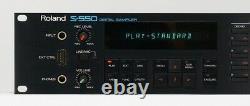 Roland S-550 12bit Digital Sampler 2U Rack Mount Sound ModuleSamplers Pro Audio