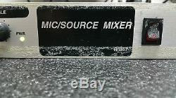 Rolls RM67 Professional Rack Mount Mic/Line Mixer 3 XLR/4 RCA 1U