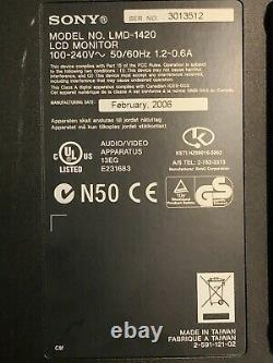Sony LMD-1420 14 Broadcast Professional Series LCD Monitor/WE ACCEPT CRYPTO PAY