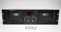 TASCAM 302 Dual Cassette Tape Player Recorder Rack Mount Pro Audio Equipment