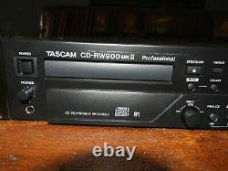 TASCAM CD-RW900MKII Professional Rackmount CD Recorder/Player No Remote