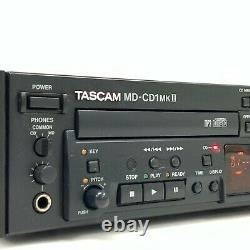 TASCAM MD-CD1MK II Professional CD Player MD Recorder Rack mount WORKINGTGJ