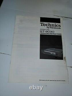 TECHNICS ST-9030 FM Stereo TUNER Vintage Rack Mount Professional Flat Series