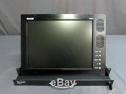 TESTED Marshall V-RD151P 15 LCD Pro Video Monitor Rack Mount Panel