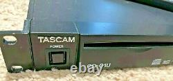 Tascam CD-01U Pro Professional CD Player Rack Mount With Remote Control
