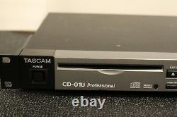 Tascam CD-01U Professional Rackmount Professional CD Player FAST SHIPPING