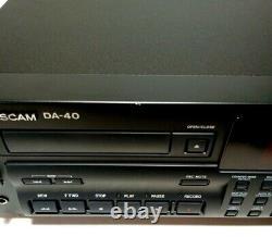 Tascam DA-40 DAT Pro Digital Audio Tape Deck Recorder Rack Mount W Cord Pristine
