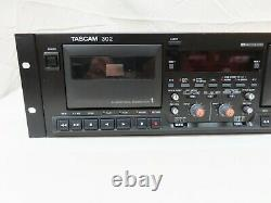 Tascam Model 302 Rack Mount Dual Cassette Professional Double Tape Deck
