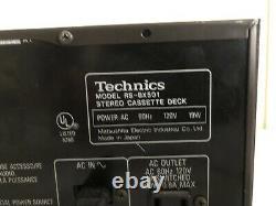 Technics RS-BX501 Cassette Tape Deck Audiophile HX Pro Dolby Rack Mount High End