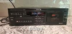 VINTAGE Denon DN-T620 Rack Mount Professional CD & Cassette Combo Deck WORKS