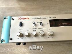 Vestax SL-201 Mk2 Dual Compressor /Limiter, 19 inch Pro Rack Mount, Made In Japan