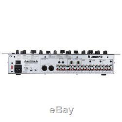 5 Canaux Dj Rack Mixer Stéréo Console De Mixage Professionnelle Us Plug W4y8