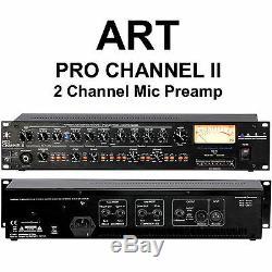 Art Pro Canal II 2 Canaux En Direct Ou Studio Rackmount MIC Preamp