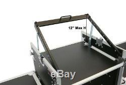 Ata 10u Space 12 Mixer Deep Amp Switchs Rackables Flightcase Road Avec Pour Dj Kj Lids