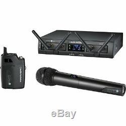 Audio-technica Atw-1312 Système 10 Pro Rack Numérique Unipak / Handheld Combo