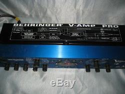 Behringer V-amp Pro Guitar Amp Modélisation Multi-effet, Montage En Rack