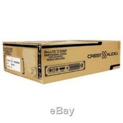 Crest Pro-lite 2.0 Dsp 2000w Amplificateur Léger Rackmount