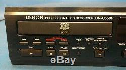 Denon Dn-c550r Enregistreur Professionnel De Montage En Rack Double Tiroir Et Lecteur Cd, Testé