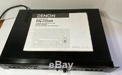Denon Dn-c550r Professionnel De Montage En Rack Double CD Enregistreur Withmanual Voir Video Demo