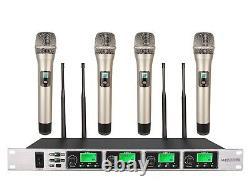 Église Microphone Multi Sans Fil Uhf Système De Montage En Rack Sans Fil Set Microphone