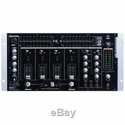 Emb Mix7 19 Montage En Rack 4 Canaux De Mixage Professionnel Avec Fondus Réglable Cross