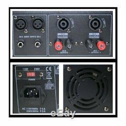 Emb Pro Pa2400 1200w 2 Canaux Dj Amplificateur 2u Rack Ampli Stéréo