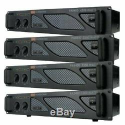 Emb Pro Pa4400 2200w 2 Canaux Dj Amplificateur 2u Rack Ampli Stéréo
