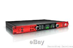 Focusrite Red 4pre 58 In / Out 64 Thunderbolt 2 Et Pro Tools Hd Interface Avec Dante
