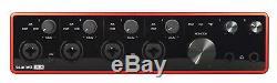 Focusrite Scarlett 18i8 3ème Génération D'interface D'enregistrement Audio Usb + Écouteurs De Studio