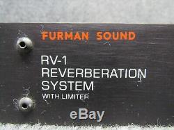 Furman Son Rv-1 Réverbération Système Avec Limiteur De Vitesse Audio Pro Rackmount